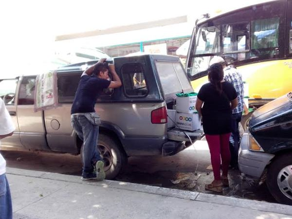 PVEM utiliza despensas gubernamentales. Foto: Edgar Hernández