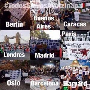 Grito Global por Ayotzinapa FUE EL ESTADO!
