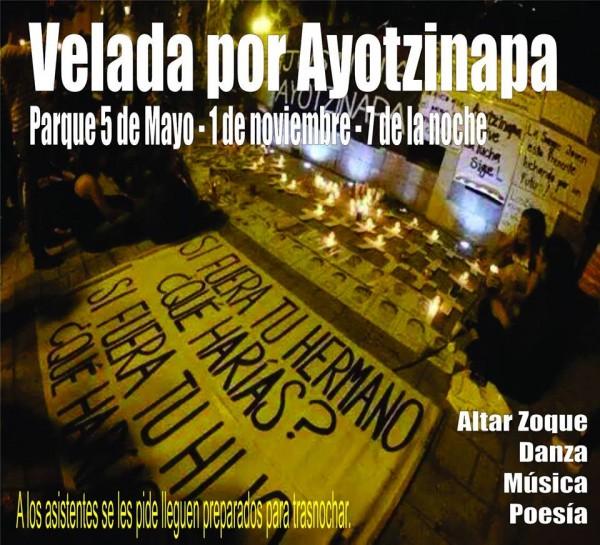 Velada por Ayotzinala