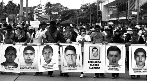 Desaparecidos de Ayotzinapa. Foto: AFP