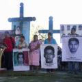 En Acteal se solidarizan con familiares de desaparecidos en Ayotzinapa. Foto: Moyséz Zúñiga
