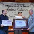 Balam Rodrigo Pérez Hernández, ganador del Premio Internacional de Poesía Jaime Sabines 2014. Foto: Cortesía