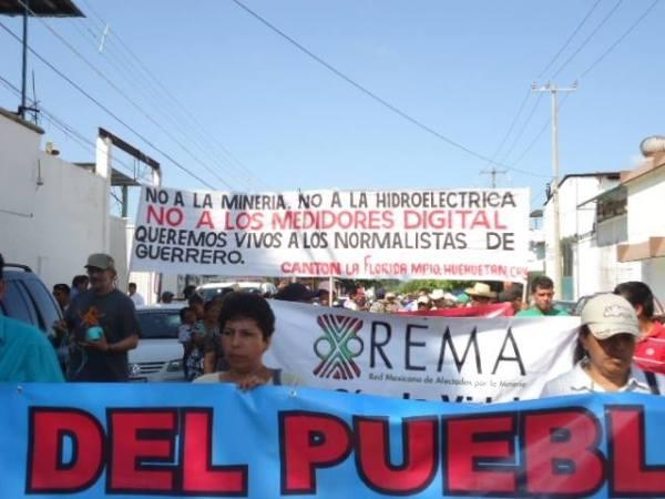 Protesta en Tapachula, contra hidroeléctricas. Foto: CheleTV