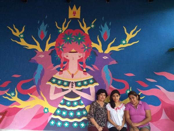 Mural en el centro cultural. Foto: Paty Rodas/ Chiapas PARALELO.