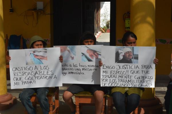 Habitantes de Ocosingo denuncian que viven amagados por la violencia que genera un grupo de autotransportistas ligados al gobierno. Foto: Voces Mesoamericanas