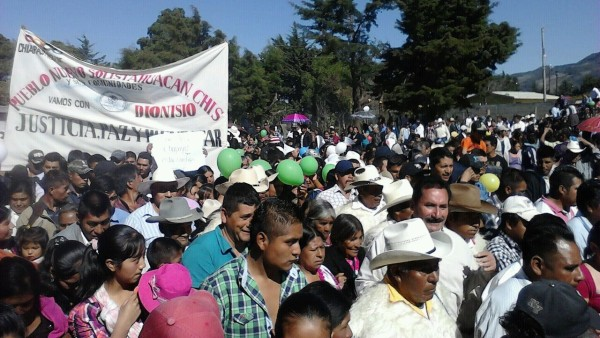 Marcha en Pueblo Nuevo Solistahuacán