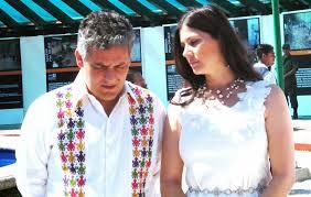 Juan Sabines e Isabel Aguilera. Foto: Cortesía
