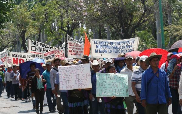 Marcha del Pueblo Creyente de Simojovel y parroquias de región norte. Foto: Ángeles Mariscal/ChiapasPARALELO