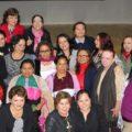 Enriqueta Burelo en una reunión con activistas por la igualdad. Foto: Cortesía