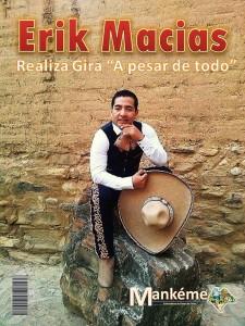 Erik Macías, cantante chiapaneco.