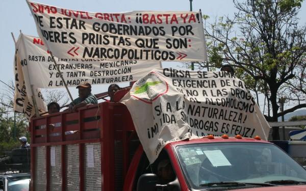 Rechazo a los narcopoliticos, demanda de los pueblos de Chiapas. Foto: Ángeles Mariscal/ChiapasPARALELO