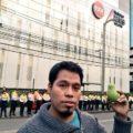 Protesta frente a MVS. Foto: Revoluciontrespuntocero