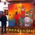 Mural del pintor zoque Saul Kak. Memoria de nuestras raíces.