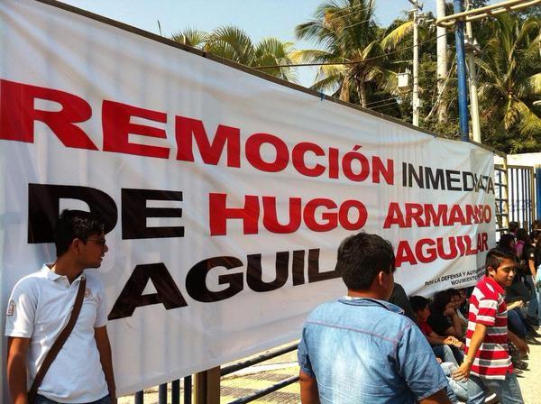Protesta en la UNACH. Foto: Cortesía