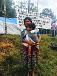 Campamentos de desplazados del poblado Primero de Agosto. Foto: Ángeles Mariscal/Chiapas PARALELO