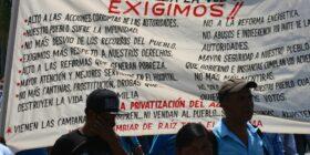 La exigencia: alto a la impunidad, corrupción y megaproyectos. Foto: Ángeles Mariscal/ChiapasPARALELO