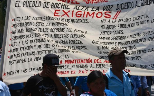 La exigencia: alto a la impunidad y corrupción. Foto: Ángeles Mariscal/ChiapasPARALELO