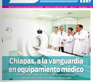 El gobernador Manuel Velasco sigue ocupando las primeras planas de los periódicos de Chiapas y otros estados.