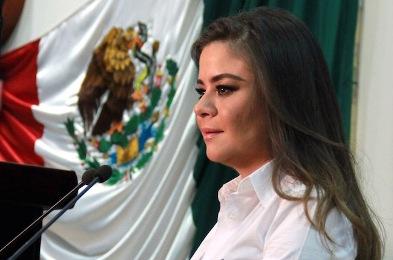 La presidenta de la Junta de Coordinación Política, Itzel de León Villard.