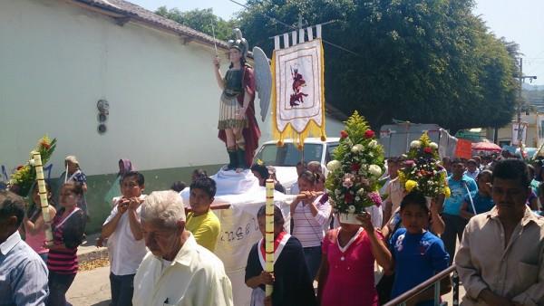 Peregrinación en honor a San Miguel Arcángel en Las Rosas, Chiapas. Foto: Felipe Ramírez Mota