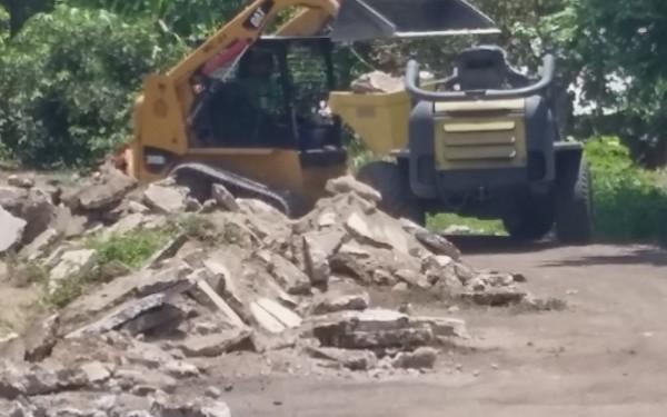 Obras en el estadio olímpico de la ciudad de Tapachula. Foto: Rosy Pérez