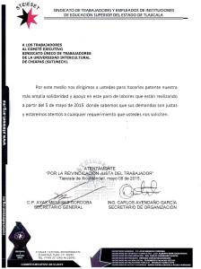 Carta de Solidaridad Tlaxcala