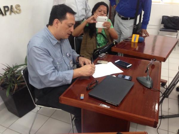 El delegado del INE en Chiapas, Edgar Humberto Arias.