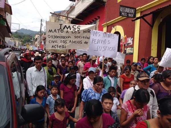 Marcha de Simojovel a La Pimienta: Foto: Cortesía Rúben Moreno