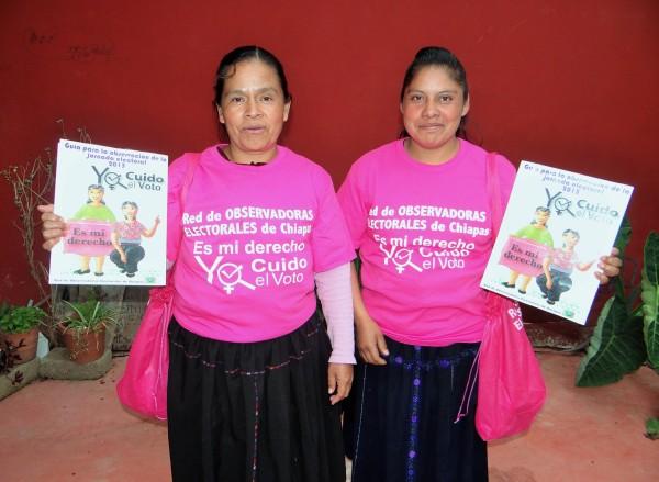 35 mujeres de las etnias tseltal, tsotsil, mam y mestizas, la Red se constituye en el primer Observatorio electoral acreditado a nivel nacional. Foto: ChiapasPARALELO