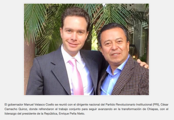 Manuel Velasco y Camacho Quiroz, 17 de marzo del 2015. Foto: Icoso