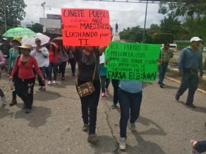 Miles de maestros protestan en las calles del país. Foto: Chiapas PARALELO