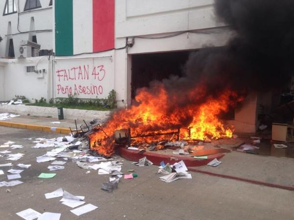 La sede del PRI en Tuxtla Gutiérrez. Foto: Isain Mandujano/ Chiapas PARALELO.