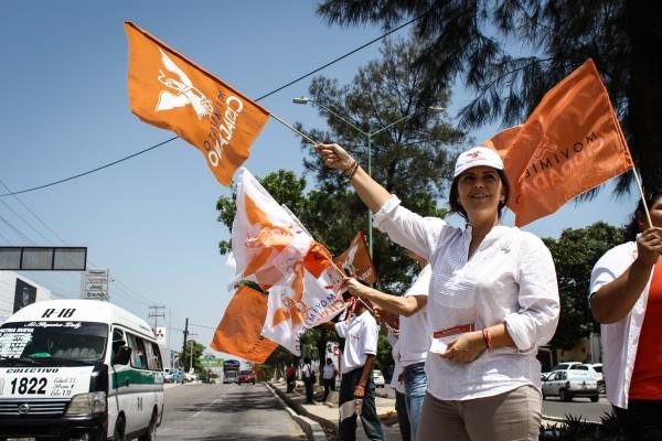 Alejandra Peralta, candidata por Movimiento Ciudadano a la presidencia municipal de Tuxtla. Foto: Roberto Ortíz.