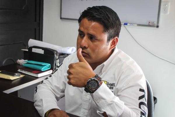 Daniel Rubín Cruz, candidato a la presidencia municipal de Tuxtla por el PRD. Foto: Roberto Ortíz/ Chiapas PARALELO.