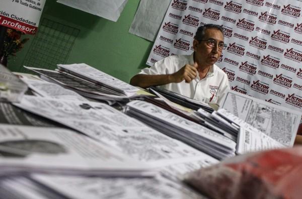 Víctor Ancheyta Bringas candidato a la presidencia municipal de Tuxtla por Morena. Foto: Roberto Ortíz/ Chiapas PARALELO.