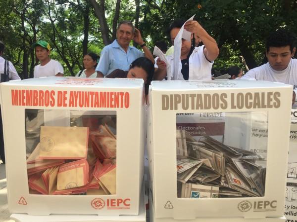 Votaciones 19 de julio 2015. Foto: Chiapas Paralelo