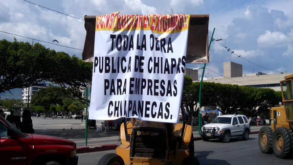 Reclaman constructoras en Chiapas