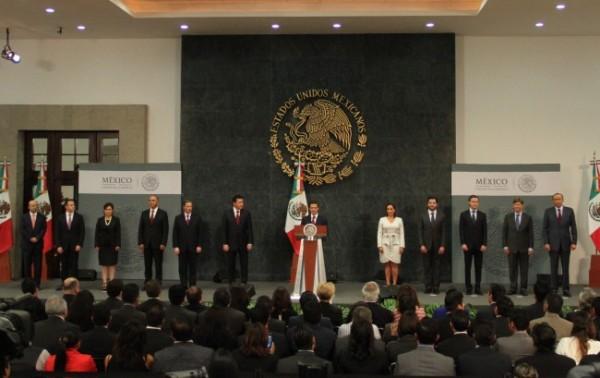 Peña Nieto y su gabinete. Foto: Presidencia