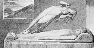Grabado de 1810 que representa la salida del alma del cuerpo.