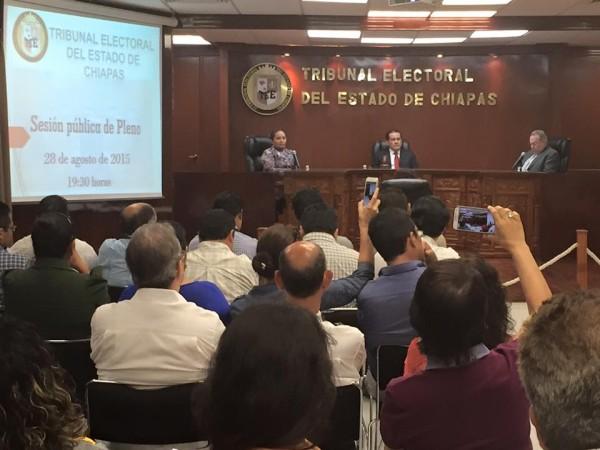 Mauricio Gordillo Hernández, Karina Angélica Ballinas Alfaro y Miguel Reyes Lacroix Macosay validaron el triunfo del PRI-Verde.
