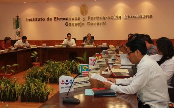 Sesión del IEPC.