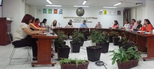 Mujeres de REPARE en el INE De Chiapas.