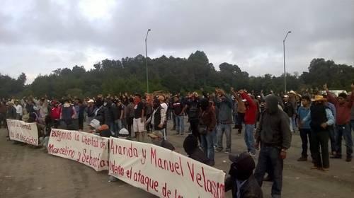 Advertencia de habitantes de San Juan Chamula. Foto: Cortesía