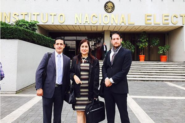 En las instalaciones del Instituto Nacional Electoral en la Ciudad de México.