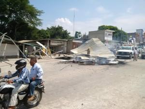 Enfrentamiento entre transportistas en Ocosingo deja seis heridos.