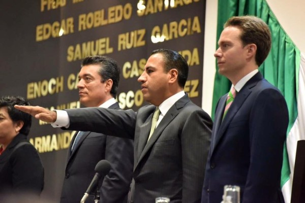Eduardo Ramírez en su toma de protesta.