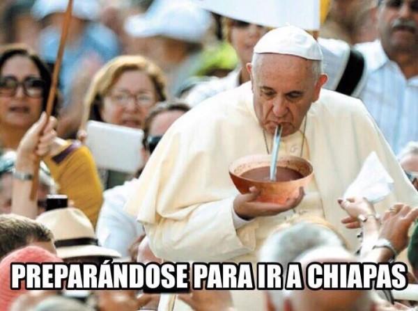 Sobre el anuncio de la llegada del Papa  a Chiapas.