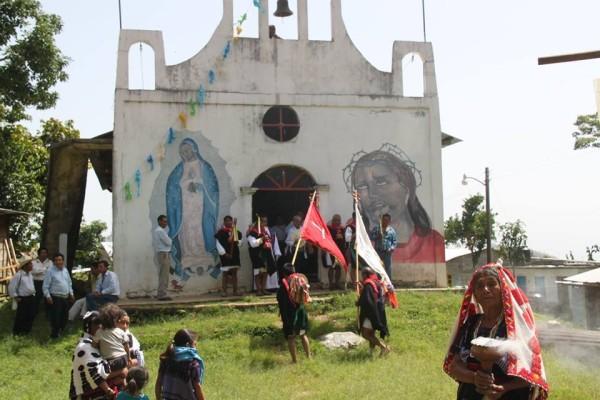 Iglesia en el poblado Acteal. Foto: Abejas de Acteal