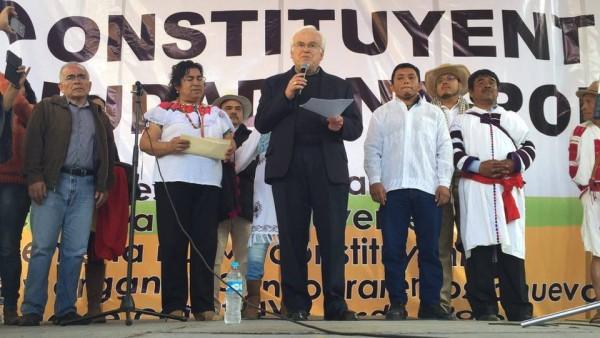 El obispo Raúl Vera López estuvo como orador principal del evento.