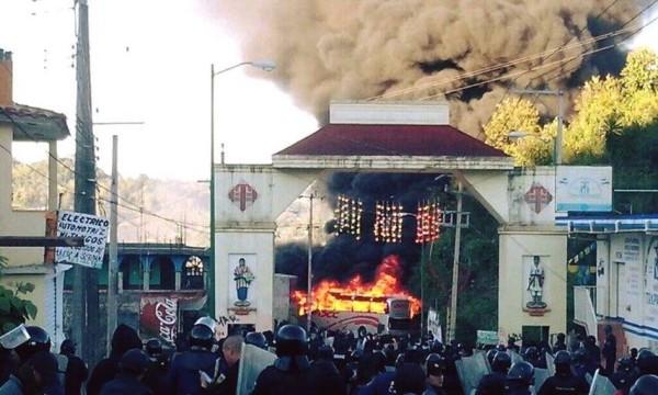 Irrupción policiaca el viernes pasado en Oxchuc